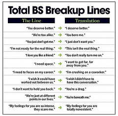 Funny Breakup Lines